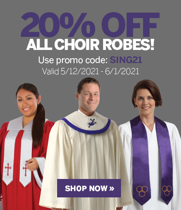 20% Off All Choir Robes