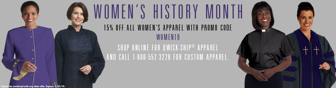 15% Off Women's Clergy Apparel