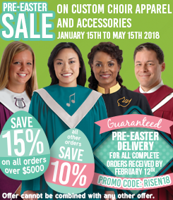 Murphy Robes Pre-Easter Custom Choir Apparel Sale
