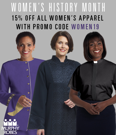 Women's History Month 15% OFF Women's Clergy Apparel